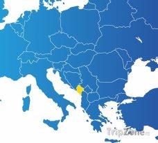 Poloha Černé Hory na mapě Evropy