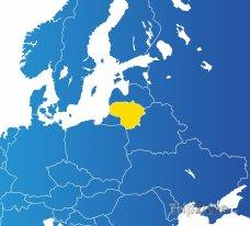 Poloha Litvy na mapě Evropy