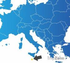Poloha Malty na mapě Evropy