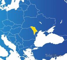 Poloha Moldavska na mapě Evropy