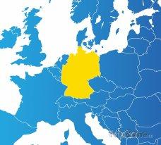 Poloha Německa na mapě Evropy