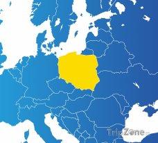 Poloha Polska na mapě Evropy