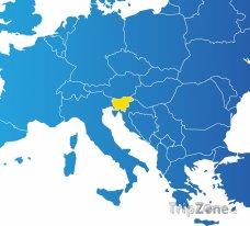 Poloha Slovinska na mapě Evropy