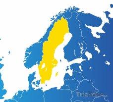 Poloha Švédska na mapě Evropy
