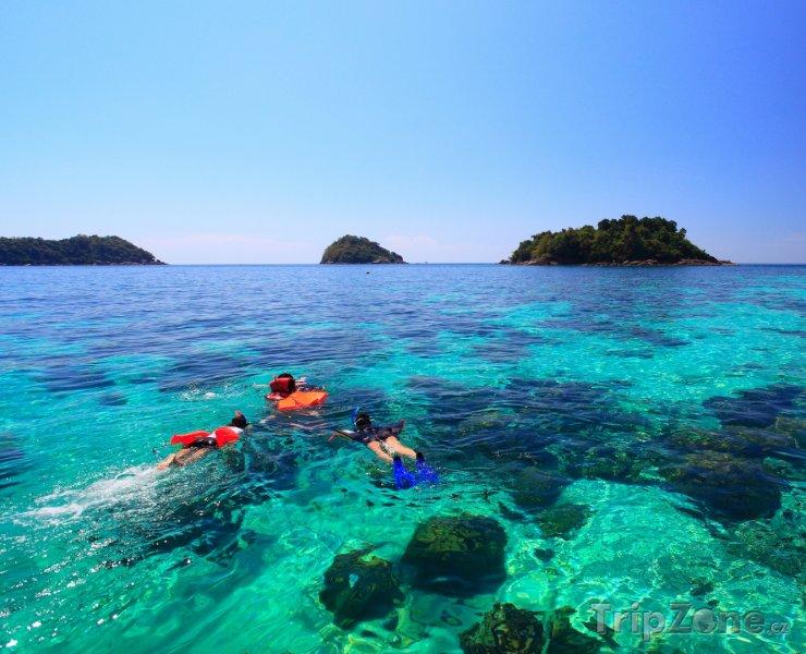 Fotka, Foto Potápění v průzračném moři (Thajsko)