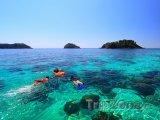 Potápění v průzračném moři