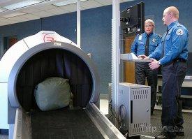 Prohlídka zavazadel rentgenovým scannerem
