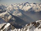 Pyreneje, pohled z Pic du Midi de Bigorre