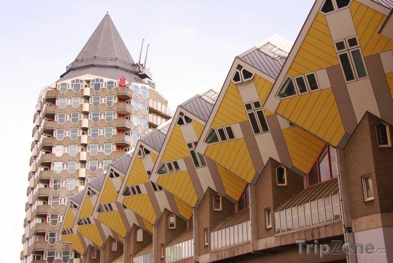 Fotka, Foto Rotterdam, domy Kubuswoningen (Nizozemsko)