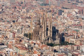 Sagrada Família, pohled z dálky
