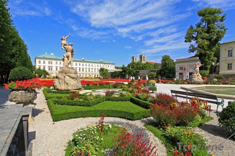 Fotka, Foto Salcburk, zámek Mirabell, zahrady (Rakousko)