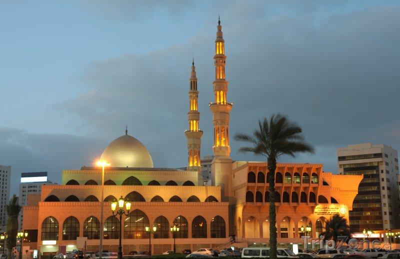 Fotka, Foto Sharjah, mešita za soumraku (Spojené arabské emiráty)