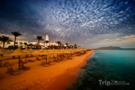 Sharm El Sheikh, soumrak na pláži