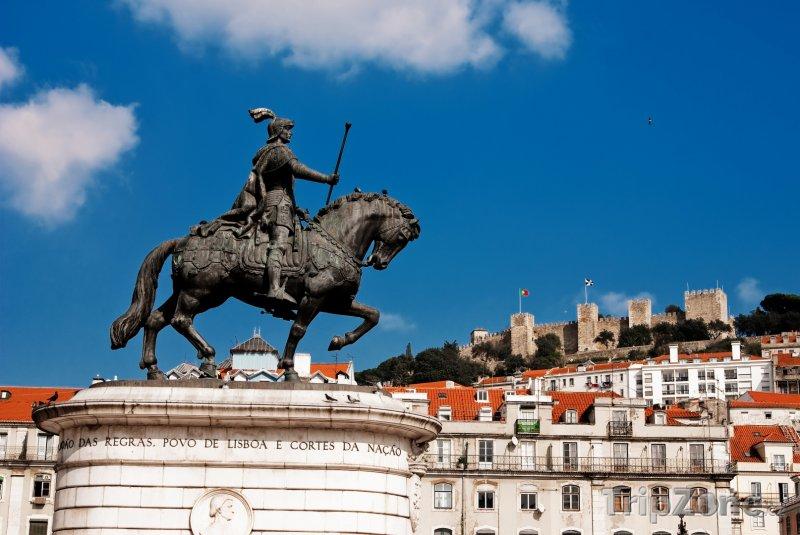 Fotka, Foto Socha Jana I. Portugalského na Praca da Figueira (Lisabon, Portugalsko)