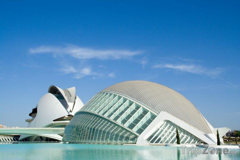 Fotka, Foto Valencie, muzeum Ciutat de les Arts i les Ciències (Španělsko)