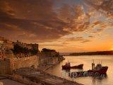 Valletta, město za rozbřesku