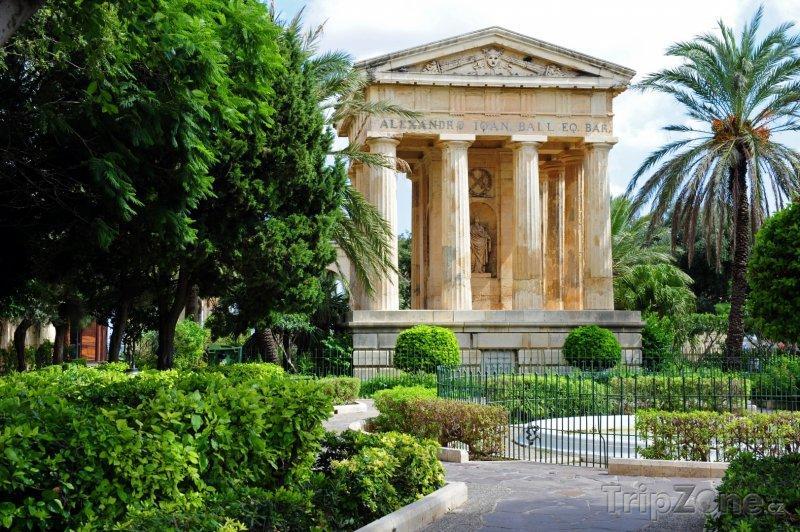 Fotka, Foto Valletta, zahrada Barrakka (Malta)
