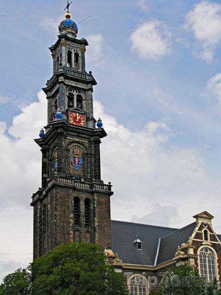 Fotka, Foto Věž kostela Westerkerk (Amsterdam, Nizozemsko)