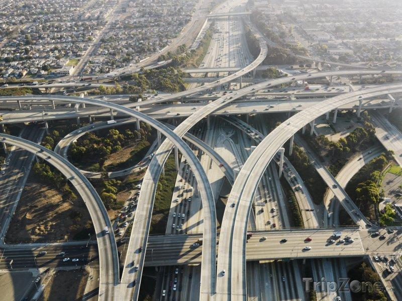 Fotka, Foto Víceúrovňová křižovatka (Los Angeles, USA)