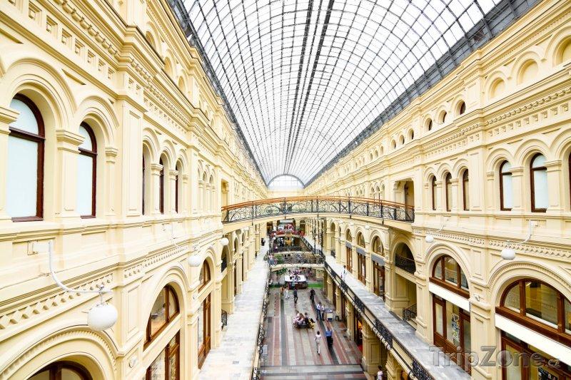 Fotka, Foto Vnitřek obchodního domu GUM (Moskva, Rusko)