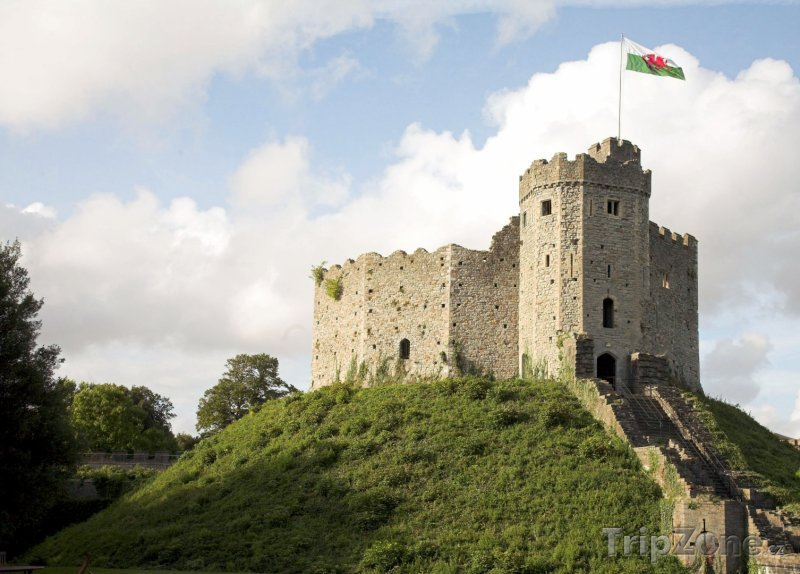Fotka, Foto Wales, hrad v Cardiffu (Velká Británie)