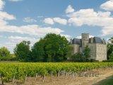 Zámek a vinice v Margaux, nedaleko Bordeaux