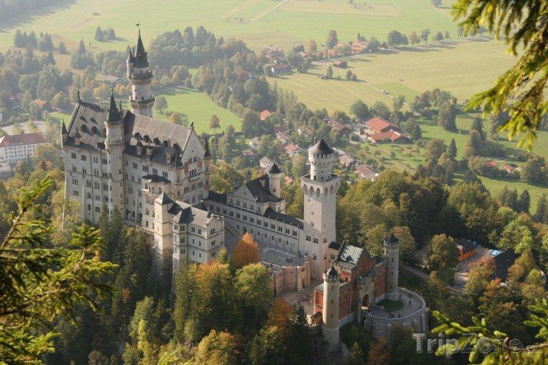 Fotka, Foto Zámek Neuschwanstein v Bavorsku (Bavorsko, Německo)