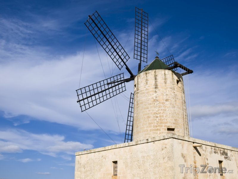 Fotka, Foto Zurrieq, větrný mlýn Xarolla (Malta)