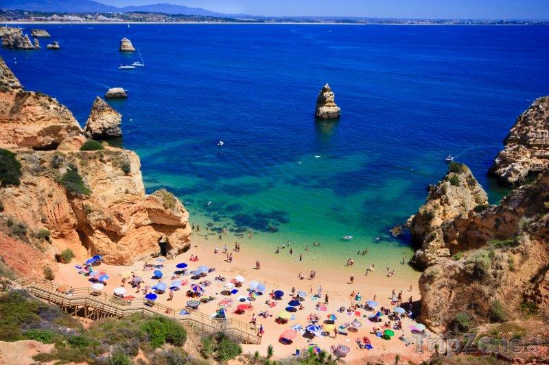 Fotka, Foto Algarve - pláž se skalisky (Portugalsko)
