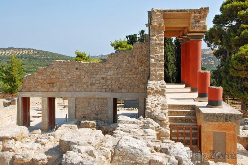 Fotka, Foto Archeologická lokalita Knóssos, zeď paláce (Kréta, Řecko)