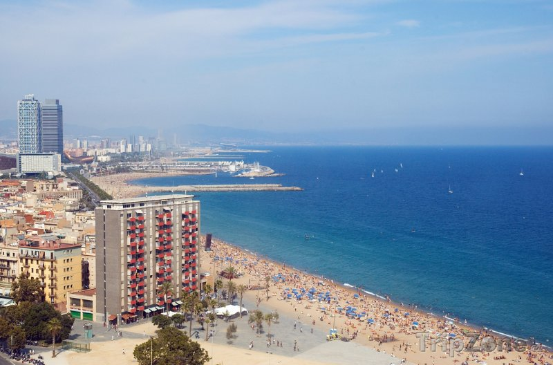 Fotka, Foto Barcelonská pláž (Barcelona, Španělsko)