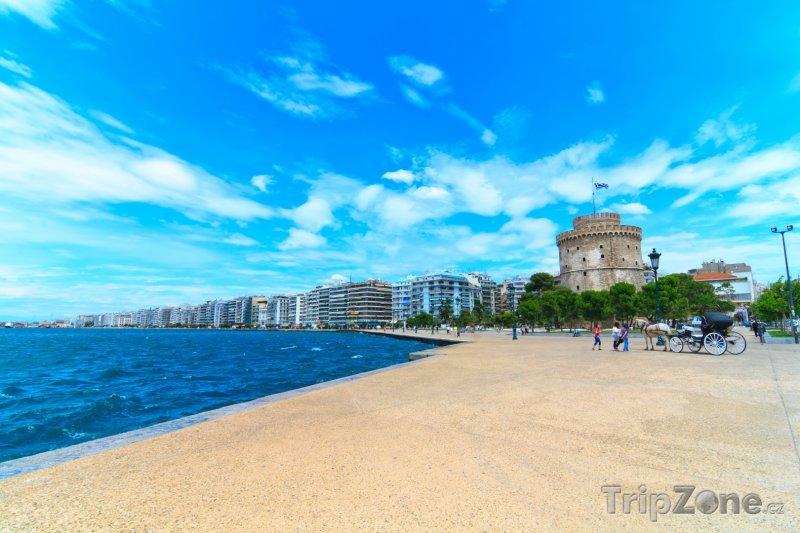 Fotka, Foto Bílá věž a nábřeží (Soluň, Řecko)
