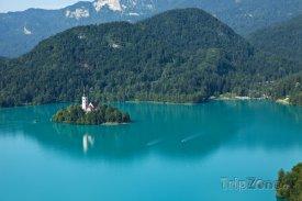 Bledské jezero a ostrůvek Blejsi Otok