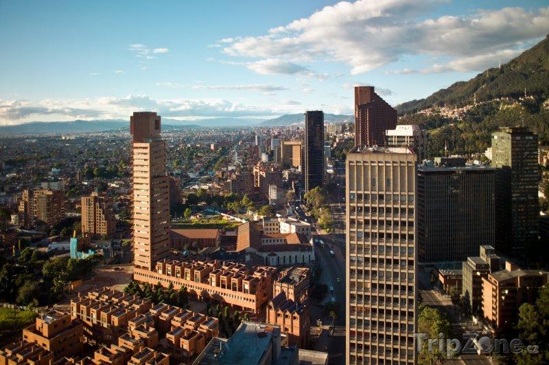 Fotka, Foto Bogota, pohled na finanční centrum (Kolumbie)
