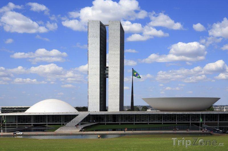 Fotka, Foto Brasília, budova Národního kongresu (Brazílie)