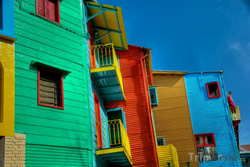 Fotka, Foto Buenos Aires, La Boca, barevné domy v uličce Caminito (Argentina)