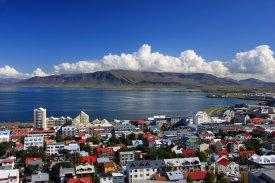 Centrum hlavního města Reykjavik