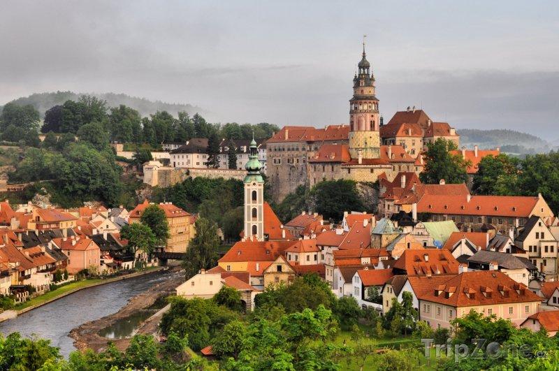 Fotka, Foto Český Krumlov, panoráma města (Česká republika)
