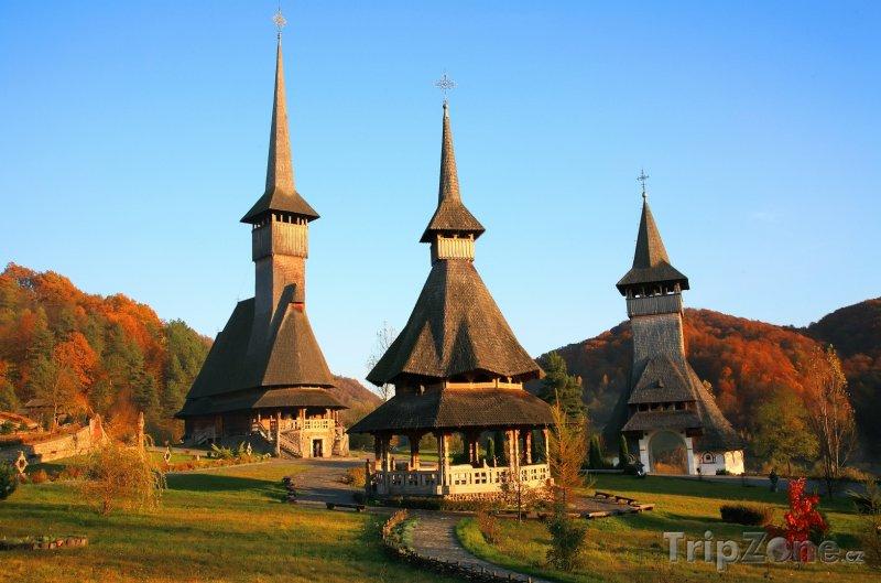 Fotka, Foto Dřevěné kláštery Barsana v župě Maramures (Rumunsko)