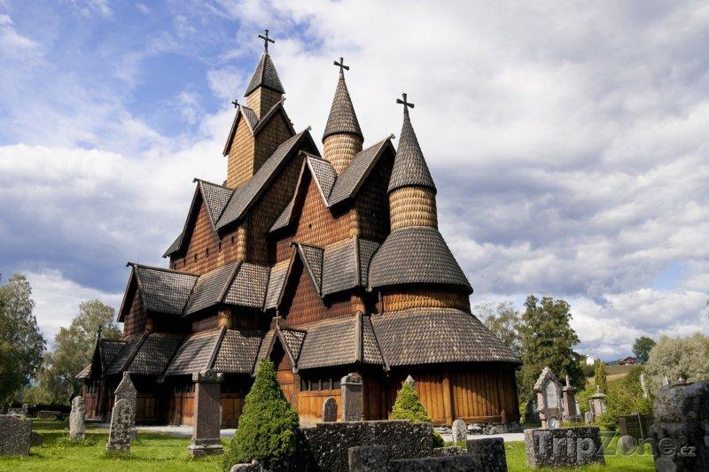 Fotka, Foto Dřevěný kostel Heddal (Norsko)