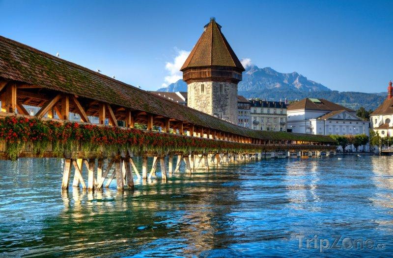 Fotka, Foto Dřevěný most v Lucernu (Švýcarsko)