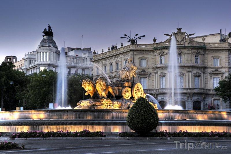 Fotka, Foto Fontána na Plaza de Cibeles (Madrid, Španělsko)