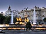 Fontána na Plaza de Cibeles