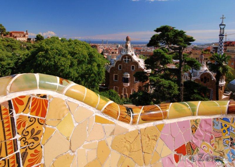 Fotka, Foto Gaudiho park Güell (Barcelona, Španělsko)