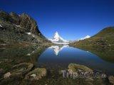 Hora Matterhorn a jezero Riffelsee