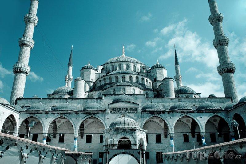 Fotka, Foto Istanbul - mešita Sultan Ahmed (Modrá mešita) (Turecko)