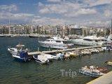 Jachty v přístavu Pireus