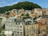 Karlovy Vary, domy v centru