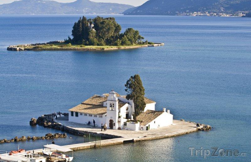 Fotka, Foto Klášter na ostrůvku Pontikonisi (Korfu, Řecko)
