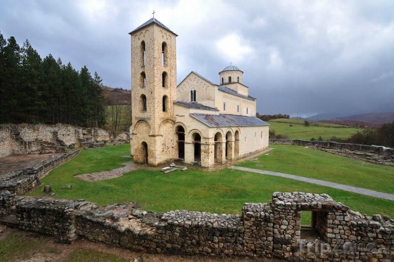 Fotka, Foto Klášter Sopoćani - světové dědictví UNESCO (Srbsko)